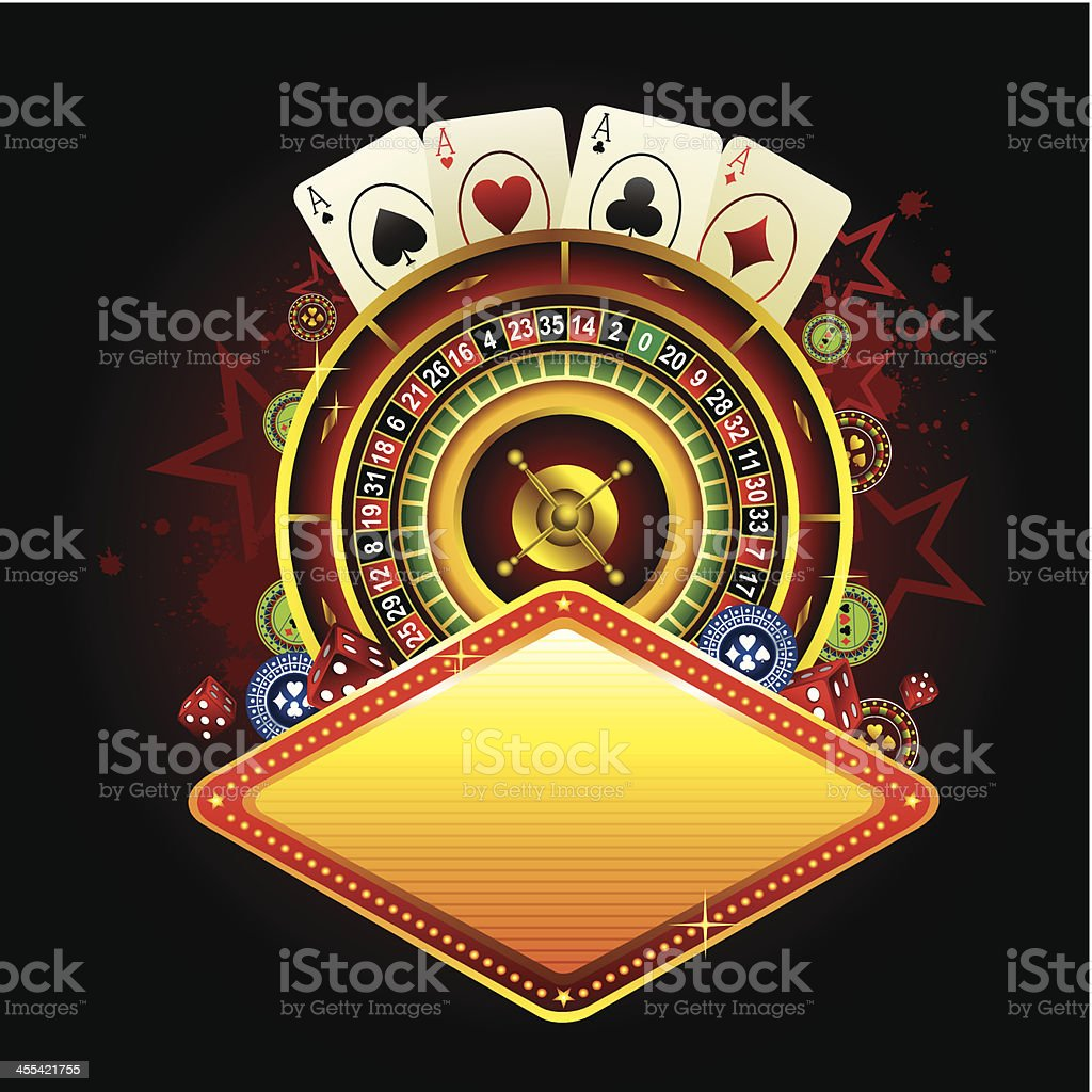 casino banner royalty-free stock vector art