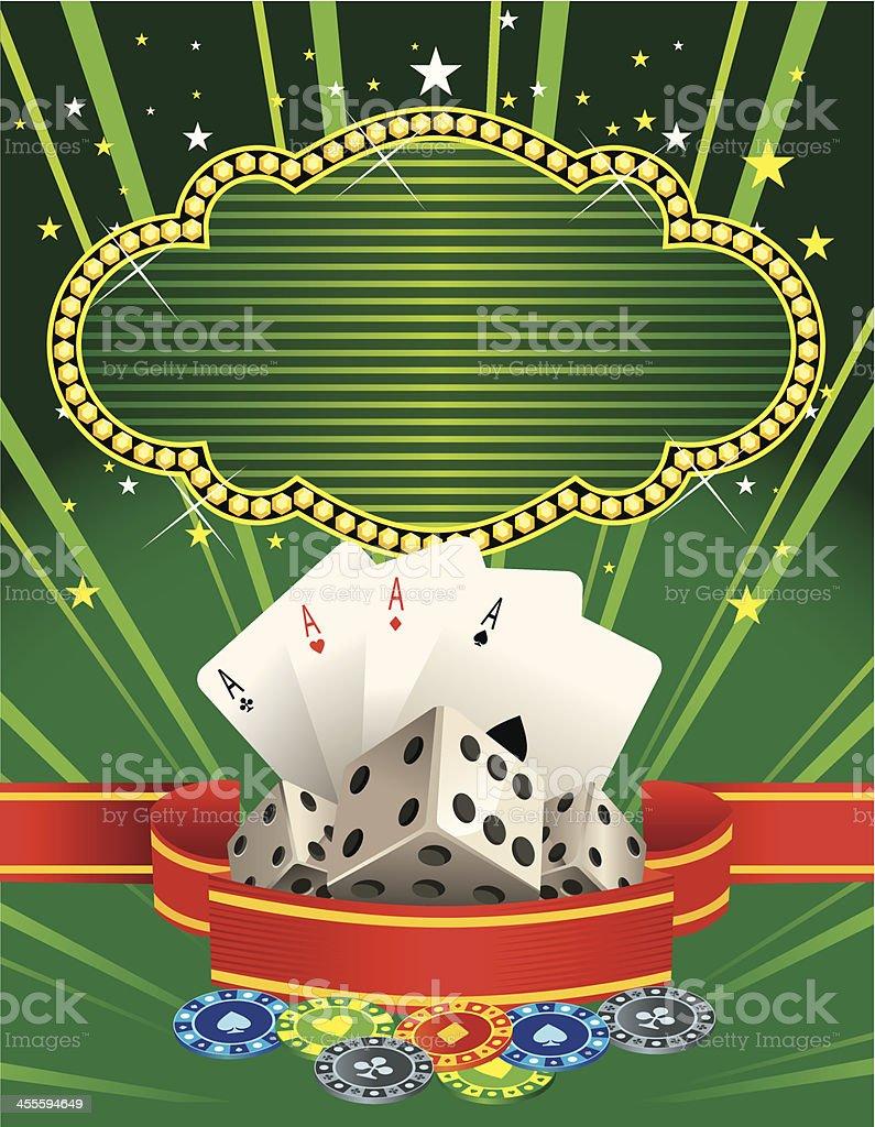 Casino Banner royalty-free stock vector art