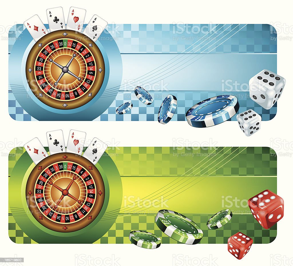 Casino Banners royalty-free stock vector art