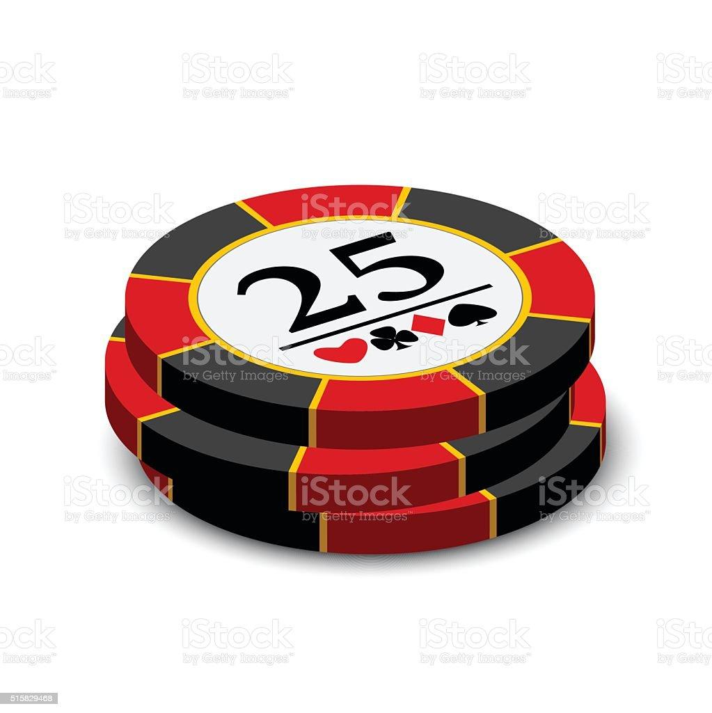 Casino chips on a white background vector art illustration