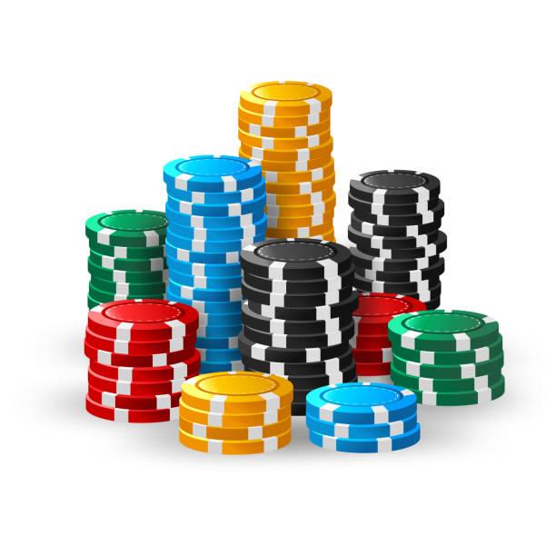 Casino chips stacks Vector Illustration Of Casino chips stacks gambling chip stock illustrations