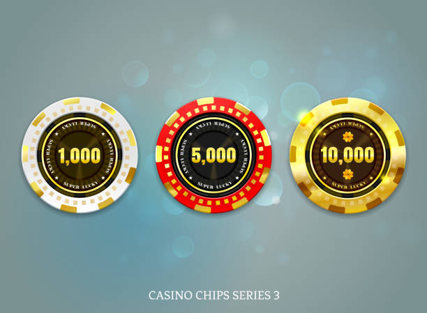 1 338 Gold Poker Chips Illustrations Clip Art Istock