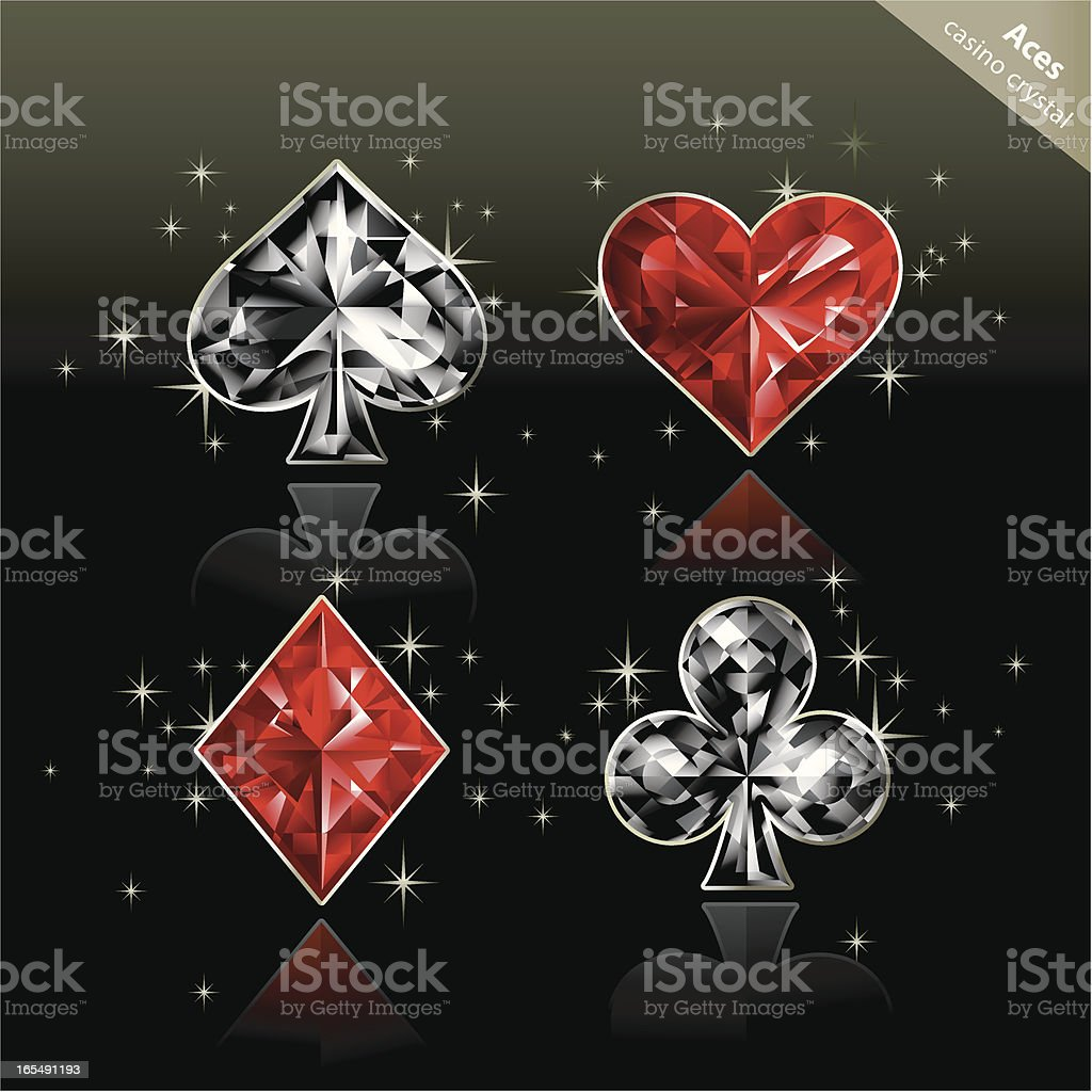 Casino Crystal (Aces) vector art illustration