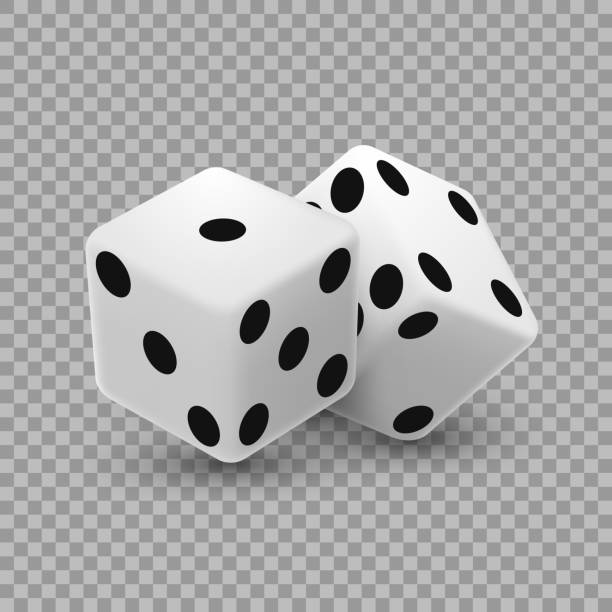 casino dice on a transparent background. - dice stock illustrations, clip art, cartoons, & icons