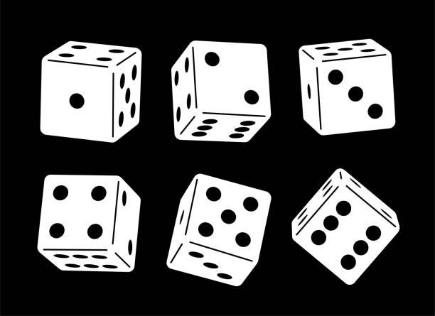 stockillustraties, clipart, cartoons en iconen met casino dice - dobbelsteen