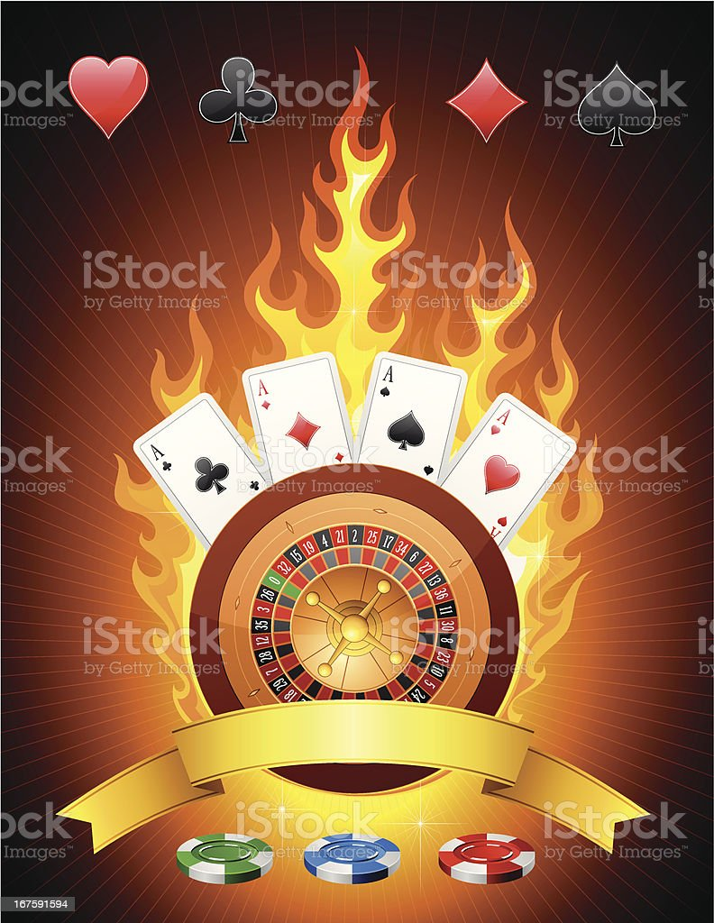 Casino Emblem royalty-free stock vector art