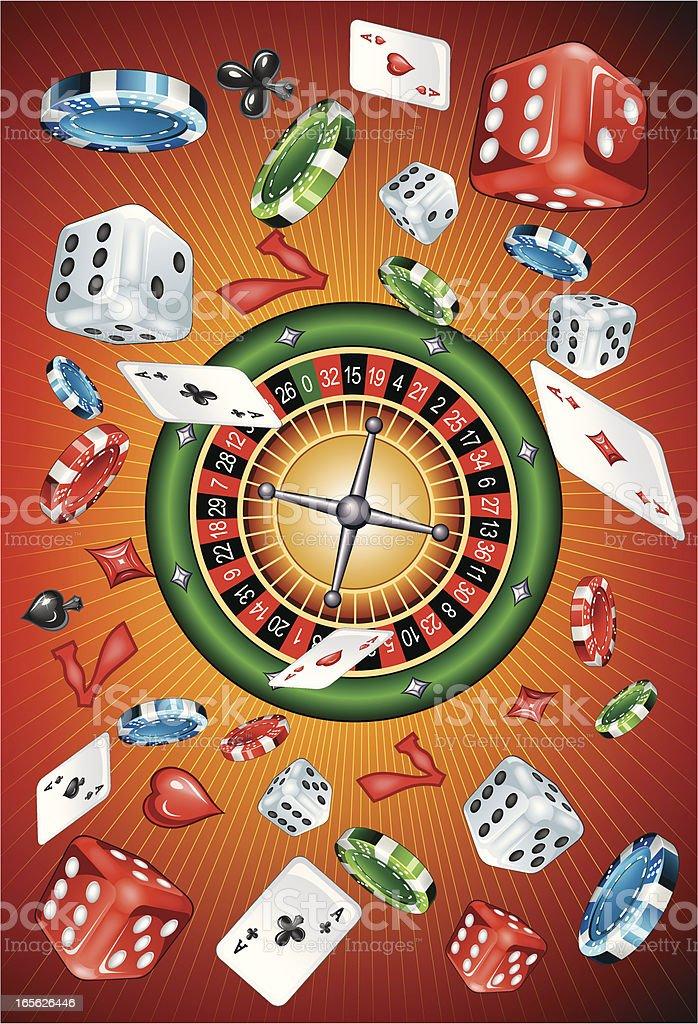 Casino explosion royalty-free stock vector art