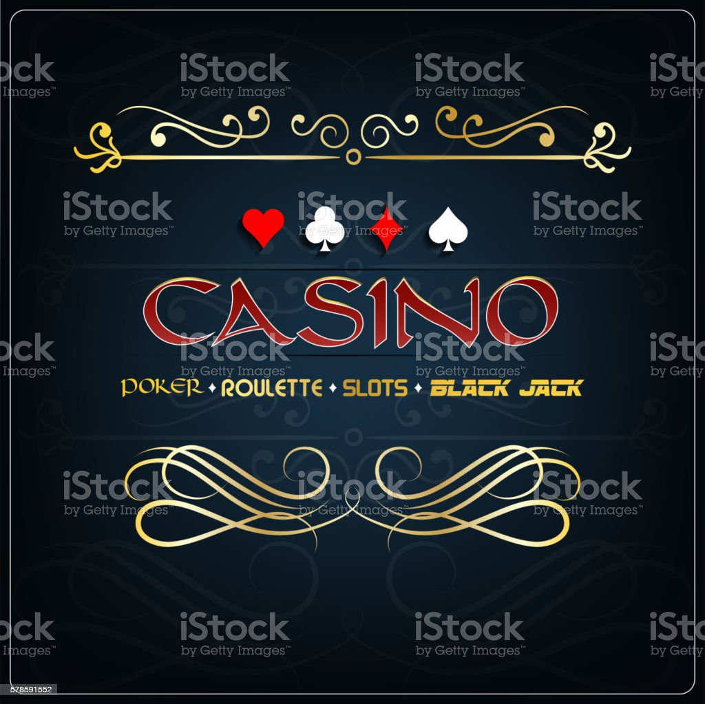 Casino for poster on a blue background vector art illustration