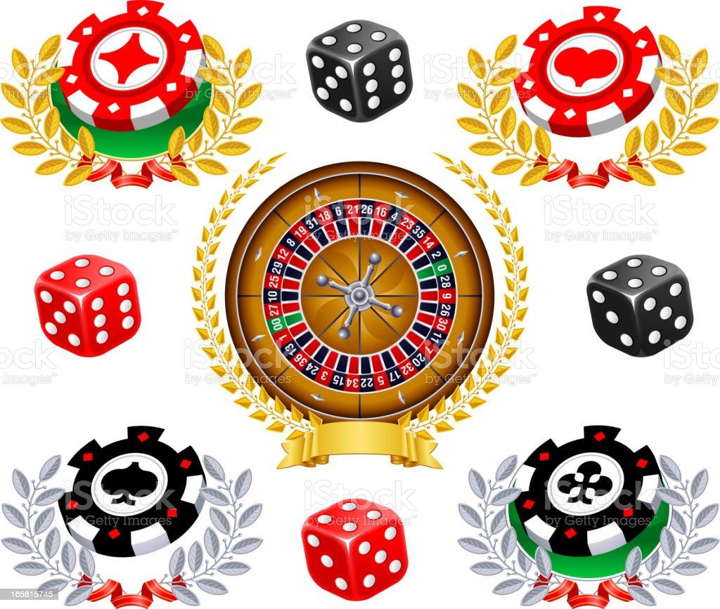 Casino Gambling Chip vector art illustration