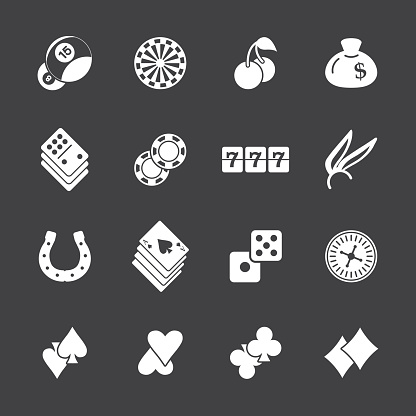 Casino Gambling Icons - White Series   EPS10