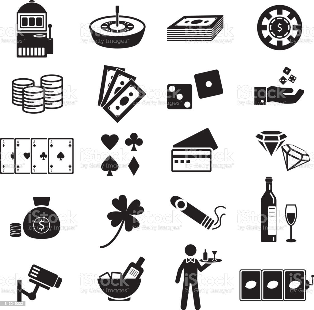 Casino Gambling Poker Vector Icon Set Isolated On White Background Stock Illustration Download Image Now Istock