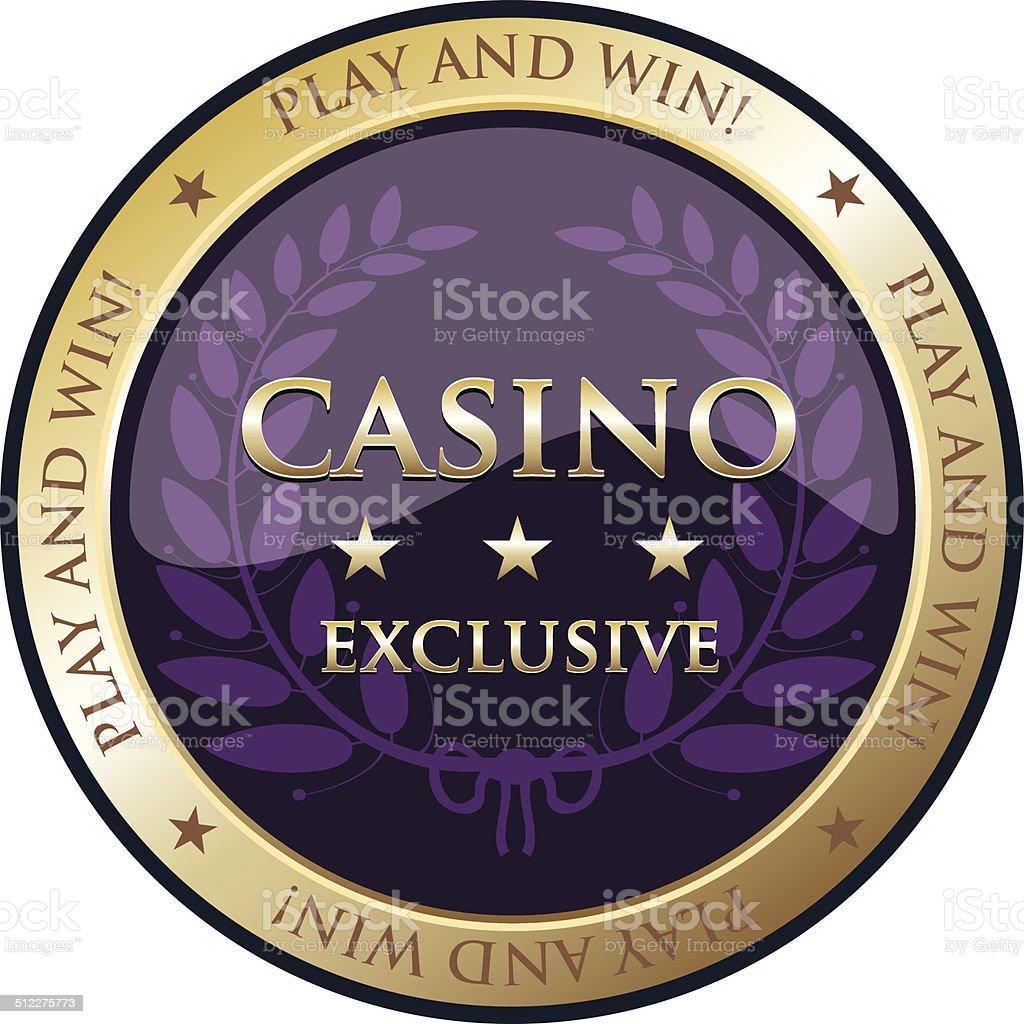 Casino Gold Emblem vector art illustration