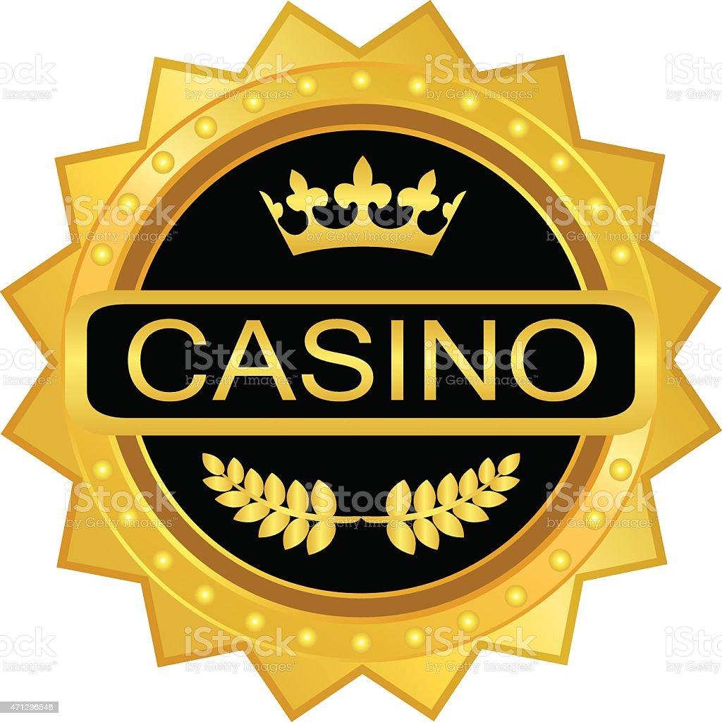 Casino Gold Medal vector art illustration