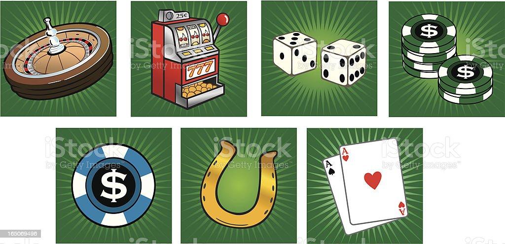 Casino Icon Set royalty-free stock vector art