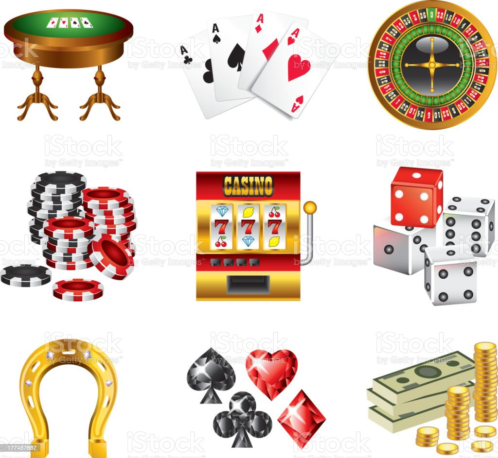 casino icons detailed vector set royalty-free casino icons detailed vector set stock vector art & more images of backgrounds
