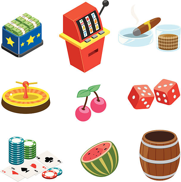 Casino  icons | ISO collection vector art illustration