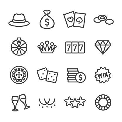 Casino Icons - Line Series