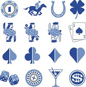 Gambling and casino icon set. Professional icons for your print project or Web site. See more in this series.