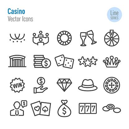 Casino Icons - Vector Line Series