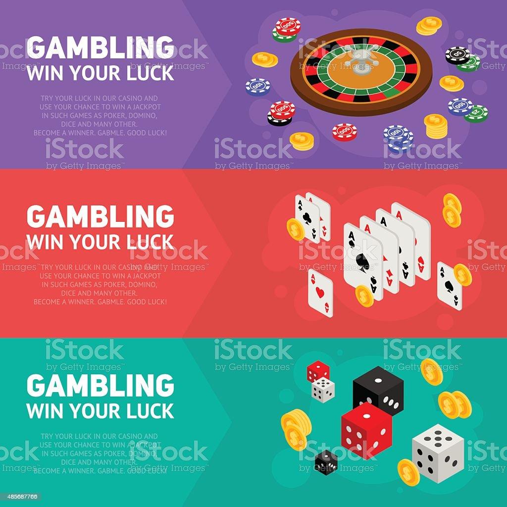 Casino isometric design concept of gambling templates vector art illustration