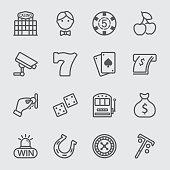 Casino line icon