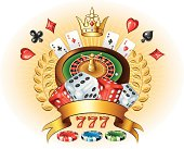 Casino logo. Vector illustration done using Adobe Illustrator CS3. Vector-Based Illustration.Meshes were used.