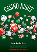 Poster for a gambling themed casino party