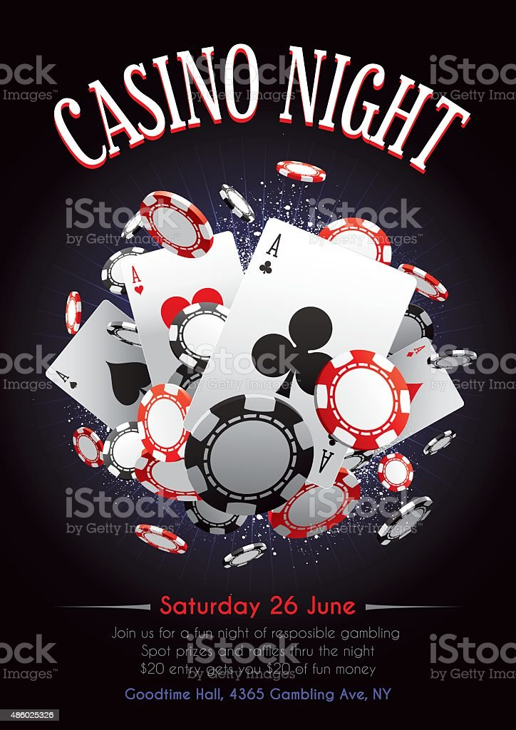 Casino Night Poster Stock Vector Art More Images Of 2015 486025326