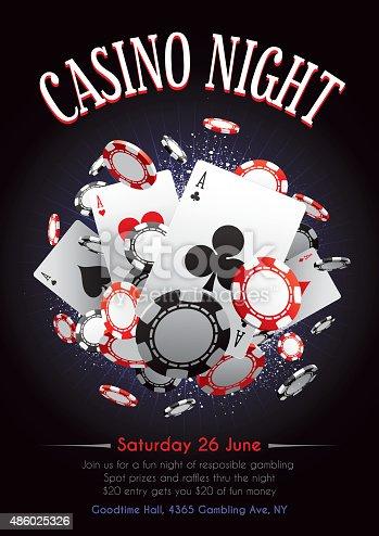 istock Casino night poster 486025326