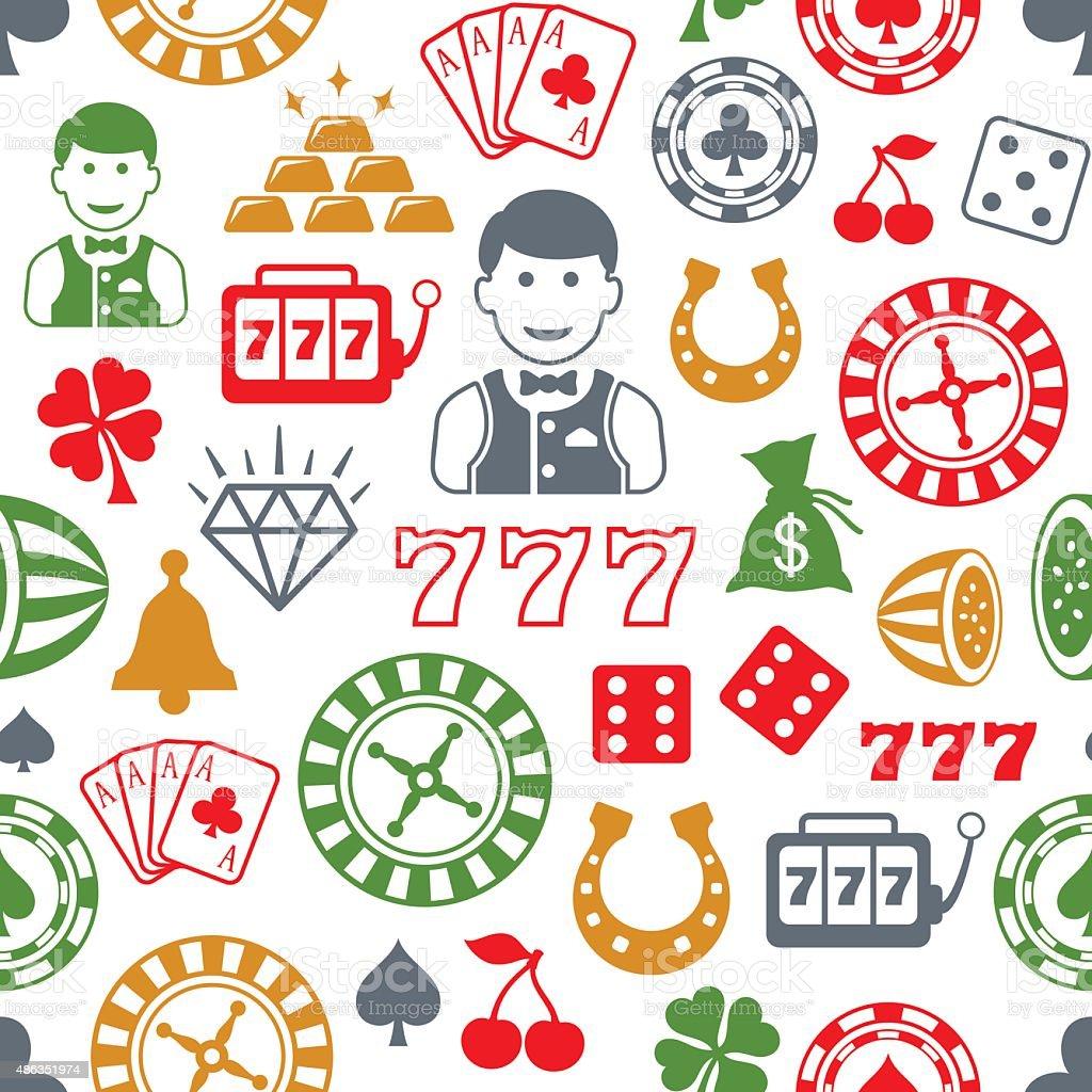 Casino Pattern vector art illustration