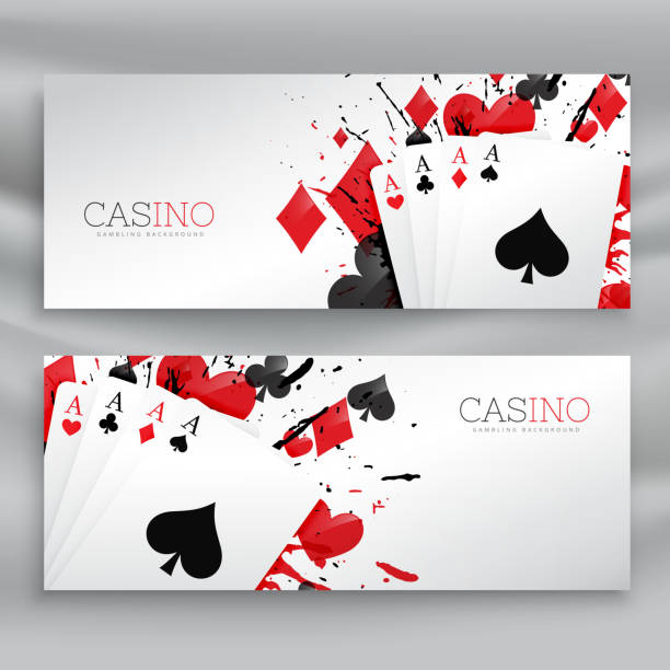 casino playing cards banners set background casino playing cards banners set background casino stock illustrations