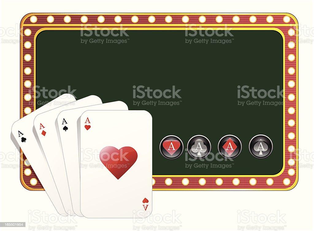 Casino poker background - VECTOR royalty-free stock vector art