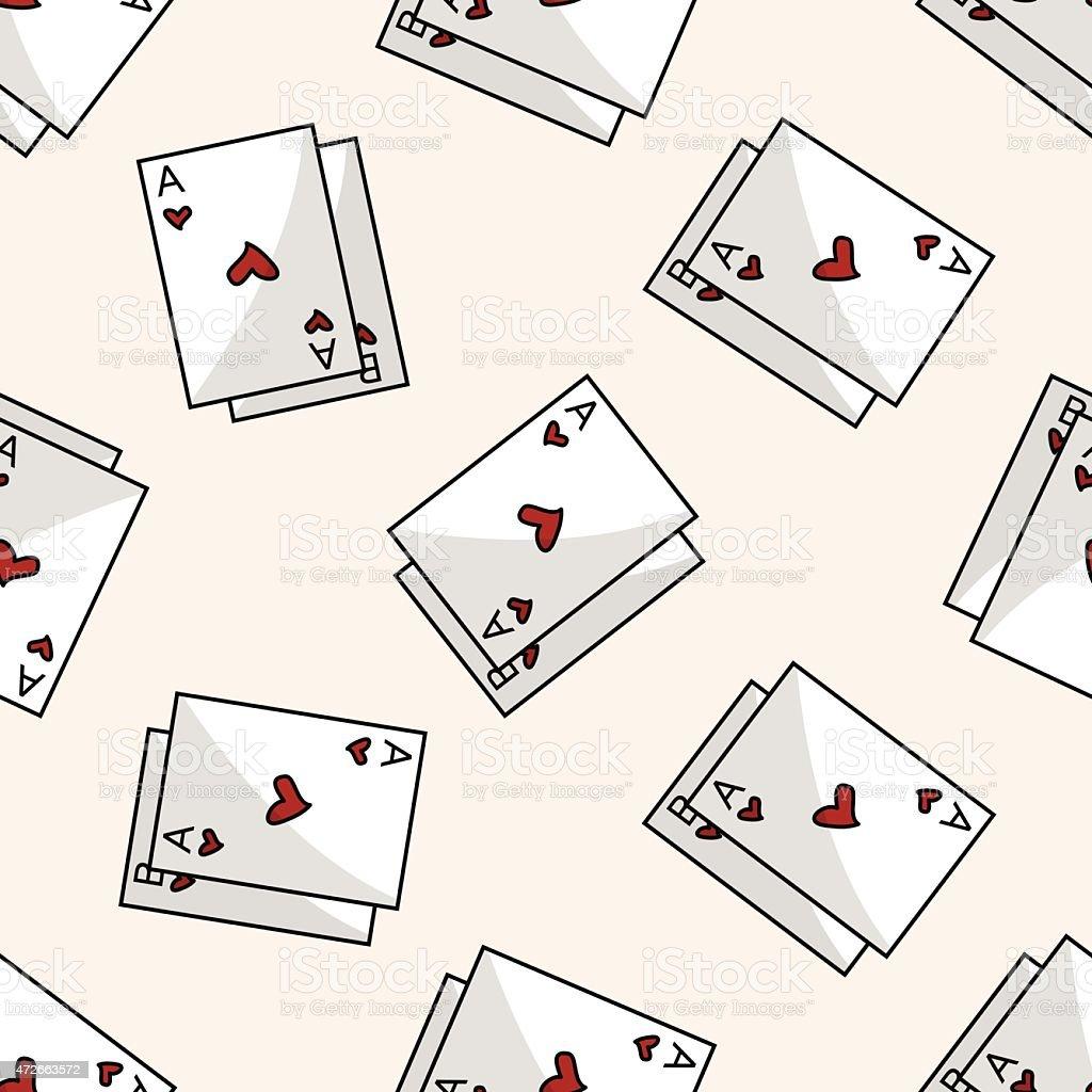 Ilustración de Casino Póquer Tarjeta Patrón Sin Costuras De Dibujos ...