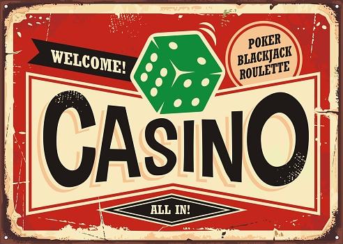 Casino retro sign
