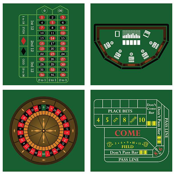 casino-set - tischarrangements stock-grafiken, -clipart, -cartoons und -symbole