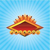 """Casino sign """"jackpot"""" on the gradient background. EPS 10. Contains Blending and transparent objects"""