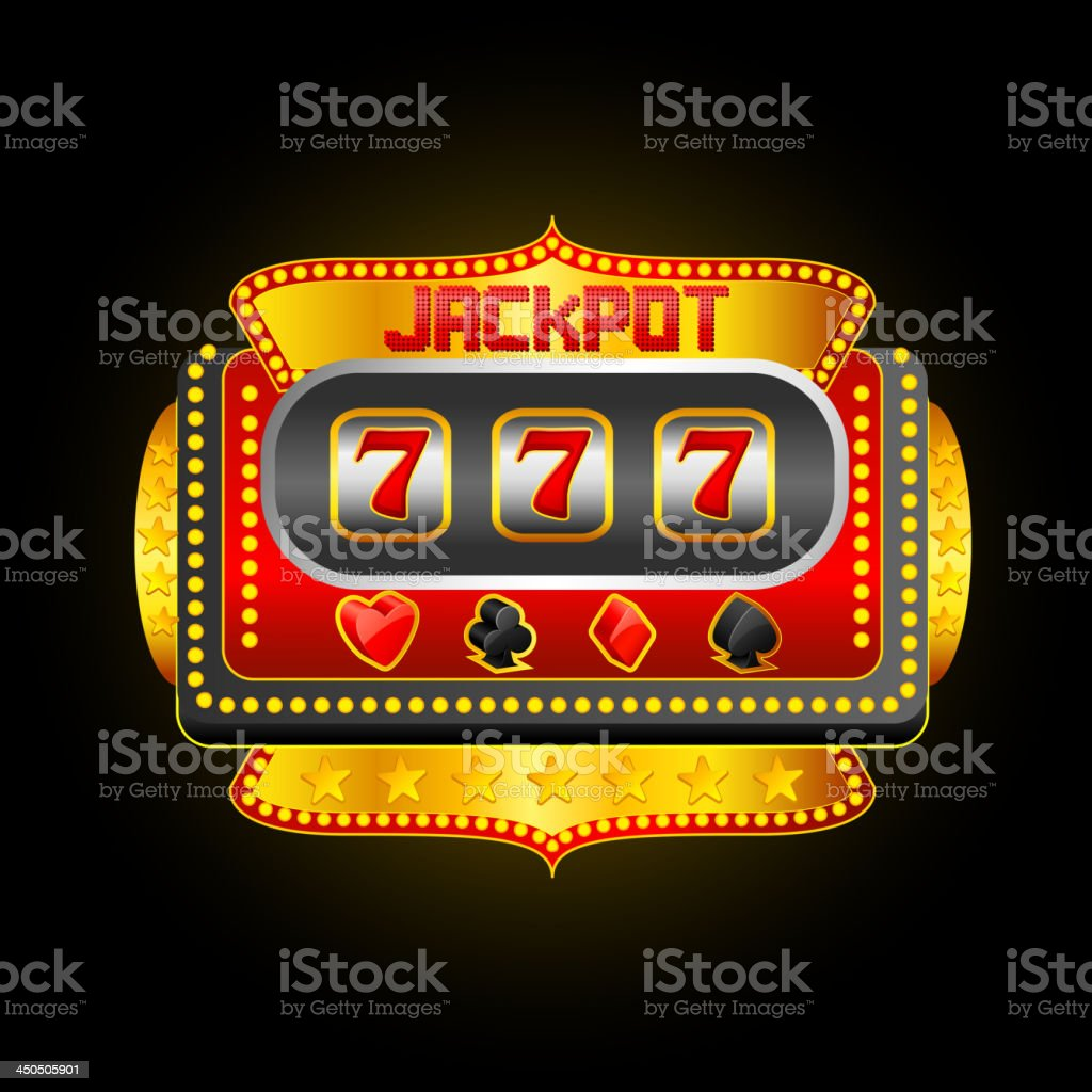 Casino Slot Machine vector art illustration