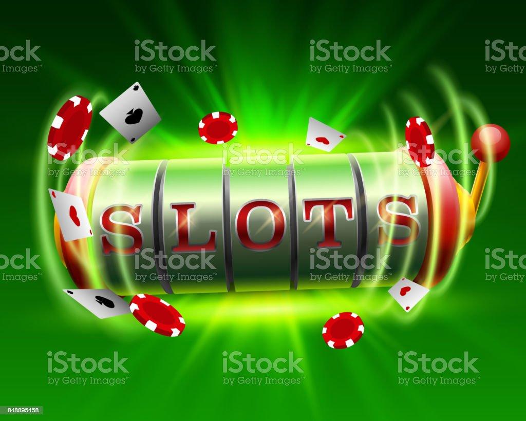 カジノのスロット大当たり 777 看板。 ベクターアートイラスト