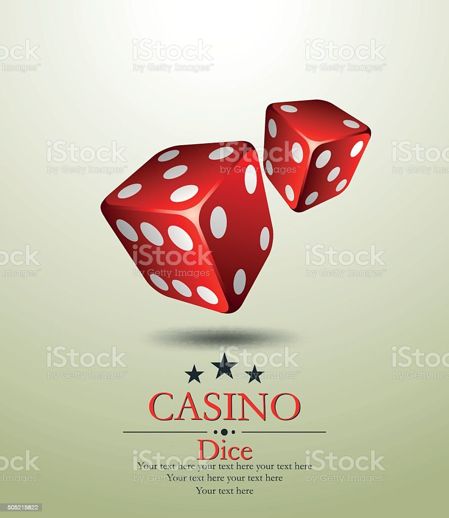 Casino. Two red dice. Vector illustration. vector art illustration