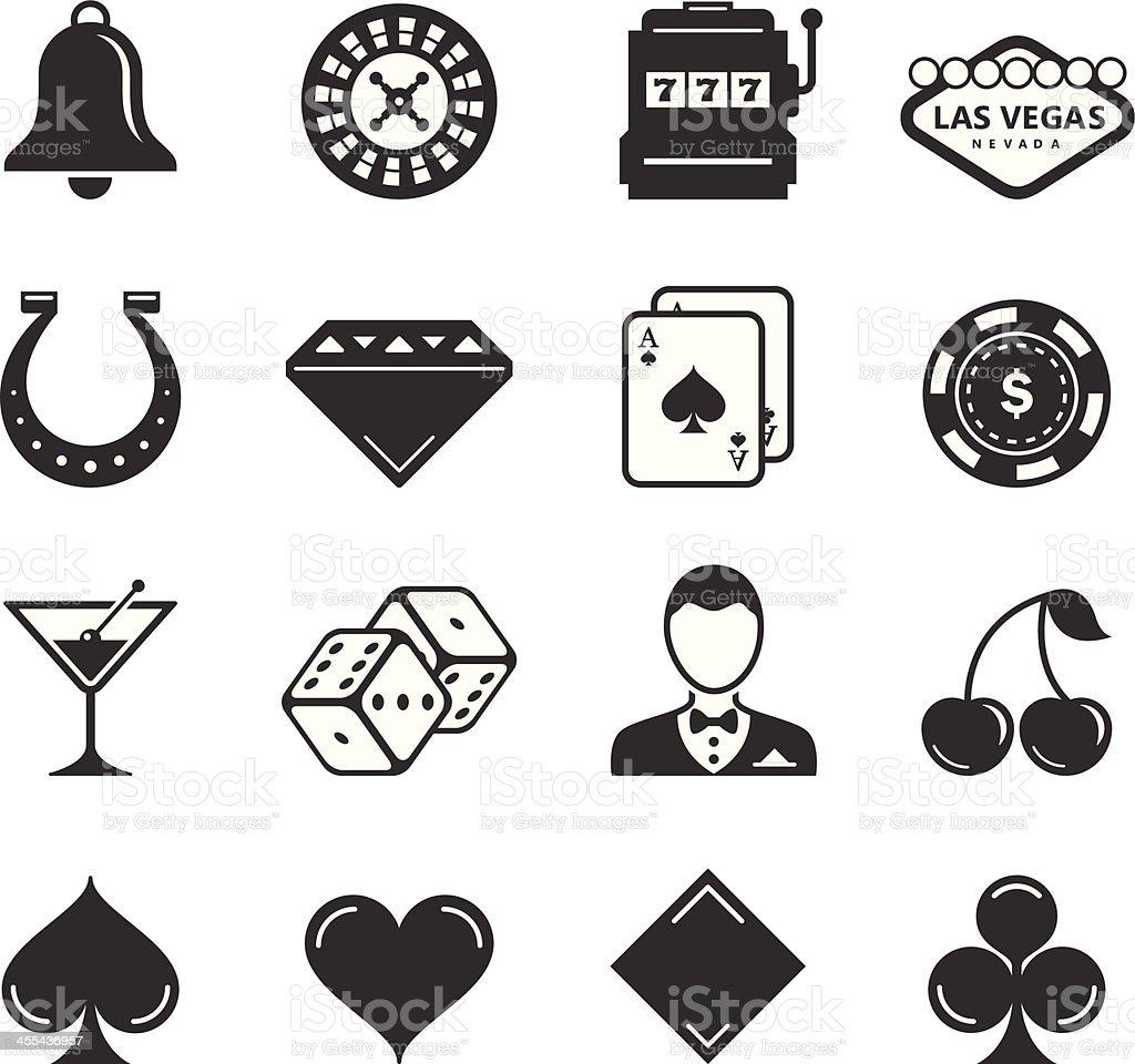 Casino/Gambling Icons royalty-free stock vector art