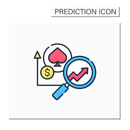Casinos predictive analytics color icon
