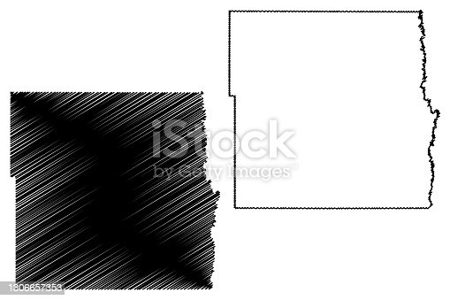 istock Cass County, North Dakota State (U.S. county, United States of America, USA, U.S., US) map vector illustration, scribble sketch Cass map 1306657353