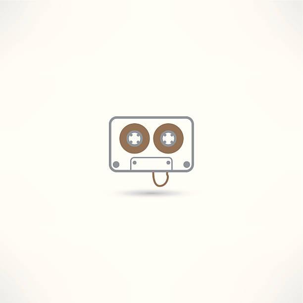 cassete audio icon vector art illustration
