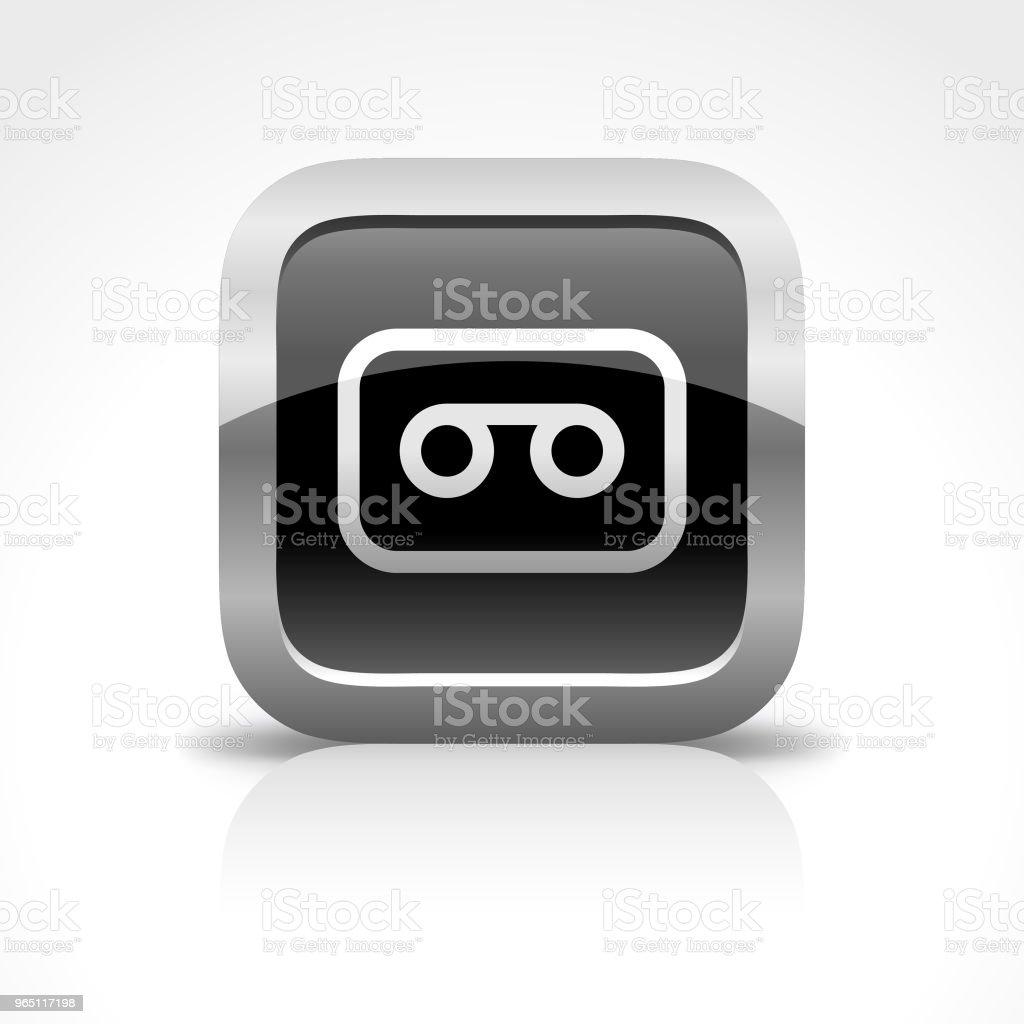 Cassette and Recording Glossy Button Icon cassette and recording glossy button icon - stockowe grafiki wektorowe i więcej obrazów analogiczny royalty-free
