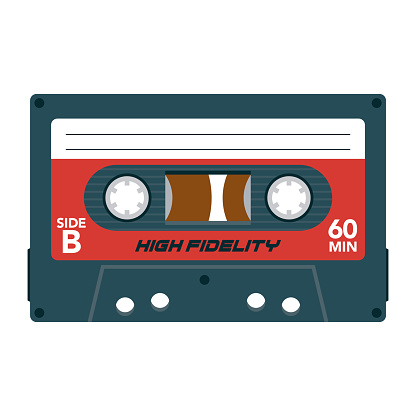 Cassette Icon on Transparent Background