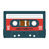 istock Cassette Icon on Transparent Background 1284454536