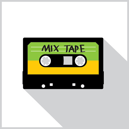 Cassette Mix Tape Shadow Icon