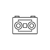 cassette player icon. Element of video products outline icon for mobile concept and web apps. Thin line cassette player icon can be used for web and mobile