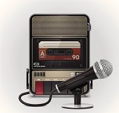 Cassette recorder with microphone XXL icon