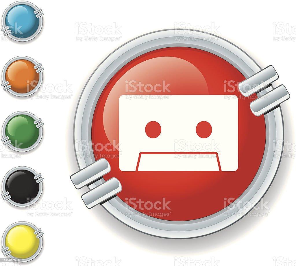 Cassette Tape Icon vector art illustration